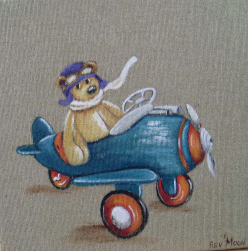 Le petit aviateur for Toile pour chambre bebe